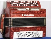 Russian Bayan B system button accordion