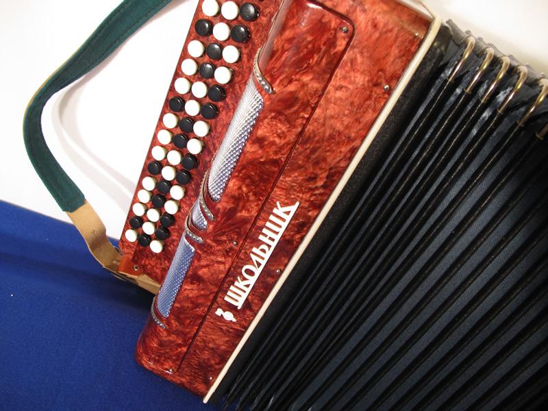 Russian Bayan B system button accordion