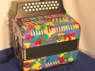 Canarino B system button accordion - multicolour