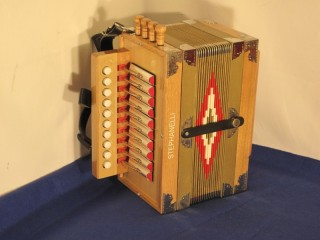 NEW STEPHANELLI CAJUN BUTTON ACCORDION C tuned