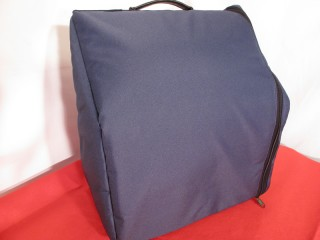 Soft side loading case for 8 bass accordion blue
