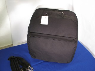 Soft rear loading backpack case for 49 bass