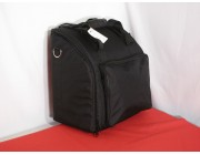 Soft front loading shoulder case for 48 bass