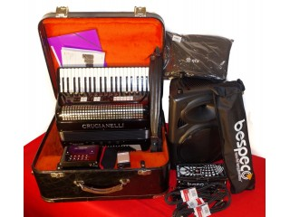 Crucianelli 120 Bass midi accordion bundle with extras