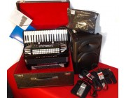 Excelsior Midi Bundle Series 2 Scottish 120 Bass 4 voice accordion amplifier expander
