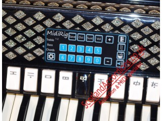 Full Soundcard MIDI with control panel on accordion