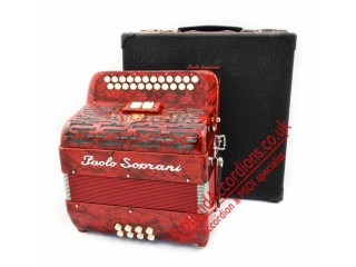 Paolo Soprani Elite B-C 2 row diatonic button accordion with MIDI