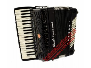 Paolo Soprani Super 37 key 96 bass 4 voice Tone Chamber accordion.  Midi expansion available.