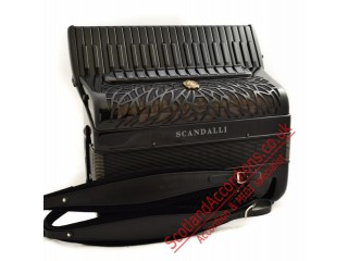 Scandalli Air IV 41 key 120 bass 4 voice Scottish tuned Tone Chamber accordion - All Black.  40% off RRP