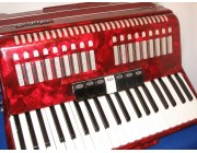 Aidi Accordion full size in red pearloid