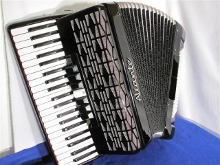 Aliante 3 voice piano accordion black