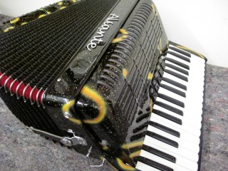 New Aliante 3 voice decorated piano accordion