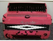 Aliante 3 voice decorated pink piano accordions