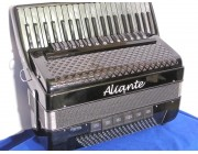 Aliante 4 voice grey pearloid key black piano accordion