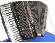 New Aliante 4 voice grey pearloid key black piano accordion