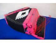 Aliante 3 voice decorated pink piano accordion normally £1099