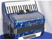 Canarino 34-60-5 New blue piano accordion