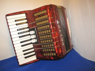 Delicia 26 key 48 bass accordion red