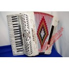 Fantini 37 key 96 bass white accordion