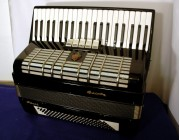 Galotta full size accordion finished in black