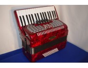 Lorenzy 34 treble 72 bass red accordion