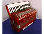 Fratelli Crosio new 3 voice piano accordion Red 120 bass