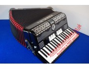 Piermaria 37 key 96 bass accordion finished in black