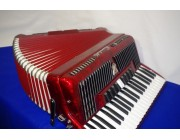 Scandalli 120 bass red accordion