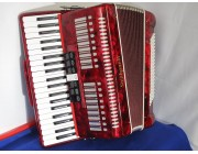 Stephanelli 120 Bass 41 Treble Key Accordion Red
