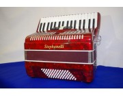 Stephanelli 72 bass red accordion