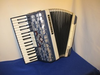 Blue Weltmeister 34 key accordion