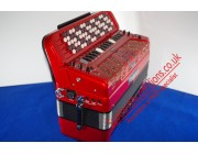 Roland FR7b Reedless Chromatic Accordion red