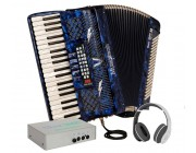 Musictech 50 Reedless piano accordion with accessories worth £250