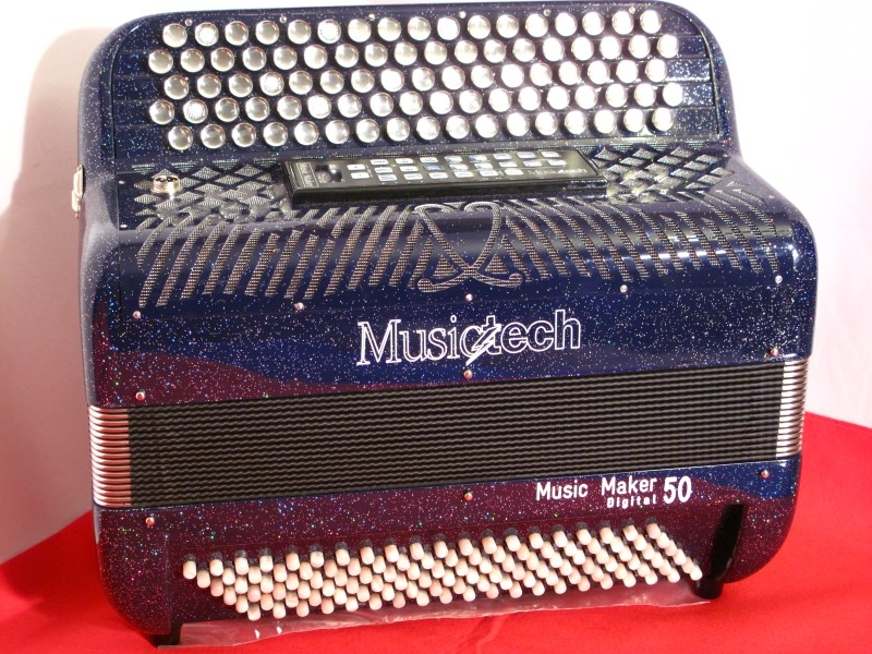 New Button Musictech Musicmaker 50 C system Reedless piano accordion
