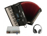 Musictech Dual-link Piano Accordion with accessories worth £300