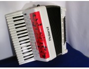 Roland FR2 Reedless accordion in White