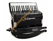 E. Soprani 34 key 72 bass Midi expanded accordion with sound generator