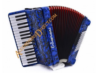E. Soprani 34 key 72 bass accordion