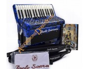 Paolo Soprani 34 key 4 voice Scottish 72 bass accordion.  Sound expansion options.
