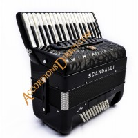 Scandalli Air Junior 34 key 72 bass 4 voice Scottish tuned  accordion.  Midi expansion available.