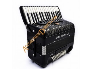 New Scandalli Air Junior 34 key 72 bass 4 voice Scottish tuned  accordion.  40% off RRP